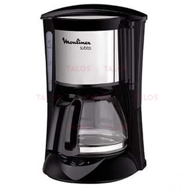 CAFETIERE SUBITO 6 TASSES 650W NOIR INOX