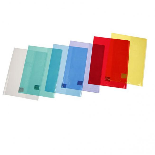 Protége cahier cristal 17x22 couleurs assorties