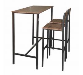 TABLE HAUT NEUER 110X60 SOCLE NOIR