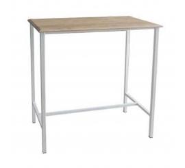 TABLE HAUT NEUER 110X60 SOCLE BLANC